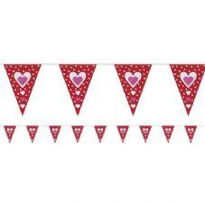 VALENTINES BUNTING - 2.7m Long